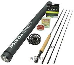 2019 Orvis Clearwater Fly Rod Outfit 5 Weight, 9 ft, 4 pc Rod, Reel Line
