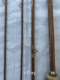 ANTIQUE Vintage ABBEY AND IMBRIE Bamboo Fly Fishing Rod Pole Silver Lake