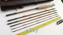 CANNE Pêche MOUCHE bambou refendu ancien fly rod fishing bamboo cane travel old