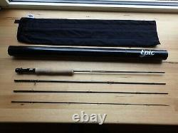 Epic 5 Weight 590C Carbon Fibre Fly Rod 9 Foot 4-Piece Rod Excellent Condition