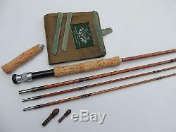Fine Farlows Of Pall Mall London 10ft Split Cane Fly Fishing Rod +Butt Extension