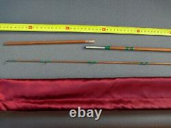 Fly Bamboo Rod 7'6 p line reel #5 Cane trout fishing D Lucas french Canne pêche