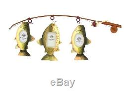 Fly Fishing Pole Rod Photo Picture Holder Frame Fisherman Themed Decor New FS