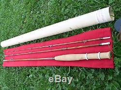 Fly rod fishing bamboo cane split Bambou refendu canne Pêche mouche line reel 6