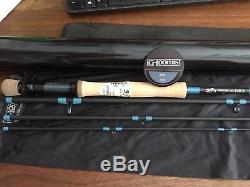 G Loomis NRX 1088-4 fly fishing rod 8 weight 9 foot 4 piece 11919-01 blue