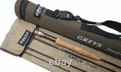 Greys Streamflex 76, 4 piece graphite brook trout fly rod, line rate #3, ba