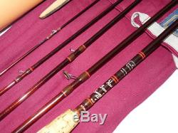 Hardy Sovereign Smuggler 9' carbon travel fly rod in the finest Hardy leather