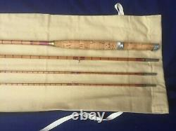Hardy Split Cane Fly Rod 8ft 10 3 Piece + Spare Tip in New Rod bag