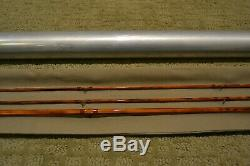 John Pickard 704 Bamboo Fly Rod 7ft 4wt Flamed after Paul Young Bob Summers NR