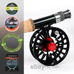 Maxcatch Premier Fly Fishing Rod and Reel Combo Kit 3-8w 9ft Fishing Outfit Kits