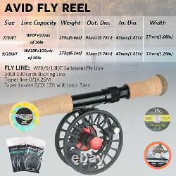Maxcatch Saltwater Fly fishing Rod Combo Kit8-10wt Fly Rod and Reel Outfit