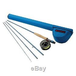 NEW REDINGTON CROSSWATER 590-4 OUTFIT fly fishing rod reel line tube combo