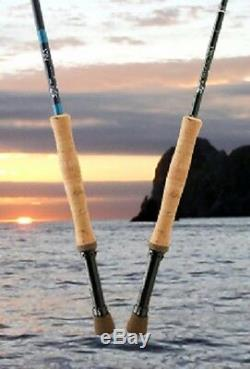 New $805 G. Loomis Nrx Saltwater 1088-4 9' Foot #8 Weight Fly Rod Blue Closeout