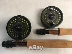 ORVIS Pair Silver Label Fly Fishing Rods with Battenkill 5/6 Reels & Double Case