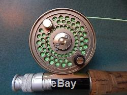 Orvis CFO I Disc Fly Fishing Reel, + Rod Made in England CLEARWATER II 905-2