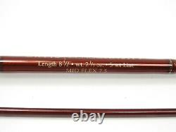 Orvis Zero Gravity Fly Rod Mid Flex 7.5. 8 1/2' 5wt. With Tube and Sock