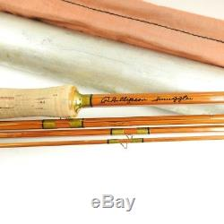 Phillipson Smuggler Bamboo Fly Fishing Rod. 7' 8. With Tube and Sock