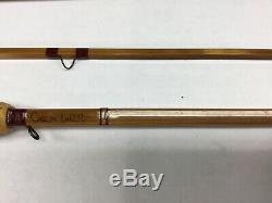 Quadrate 6ft 2pc 3wt bamboo fly fishing rod by Chris Carlin with bag and case