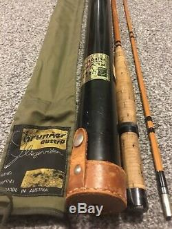 Rare Walter Brunner Traun Spezial Bamboo Fly Rod
