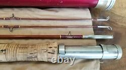 Restored Wright & McGill Water Seal Impregnated Bamboo Fly Rod 8 1/2' 3/2 tube