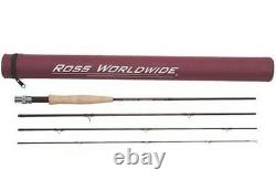 Ross Diamond RX Fly Rod 690-4 Freshwater 6wt 9ft 4pc NEW with case