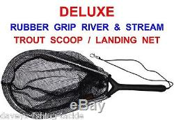 Rovex Deluxe River & Stream Trout Scoop+lanyard Landing Net Game Fly Rod Fishing