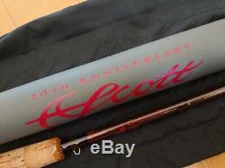 SCOTT 20th anniversary 7'0 #4 5piece Fly Rod Fishing withCase F/S