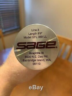 Sage Graphite III 389 LL Fly Fishing Rod. 8'9 3wt. Amazing ++ Condition