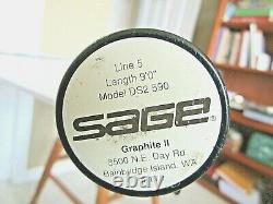Sage Graphite II Fly Fishing Rod, 9'0, 5 Weight Model Ds2 590 And Rod Case