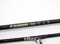 Sage One 790-4 Fly Fishing Rod. 9' 7wt. With Tube and Sock