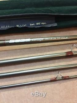 Sage Vantage 590-4 Fly Fishing Rod #5 Line 9'0 Long 4 Piece With TFO BVK Case