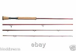 Scierra Edp V2 Fly Fishing Rod Wf5 9'0 4 Section Rainbow Trout Grayling Pike A1