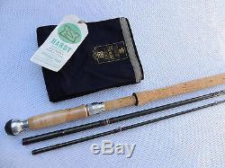 Superb 15ft Hardy Favourite Graphite #10 Salmon Fly Fishing Rod + Bag, Rod Label