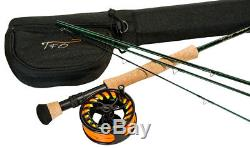 TFO NXT LA Rod and Reel Fly Fishing Outfit 4 Piece Rod