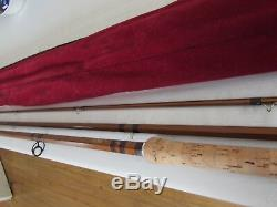 Unused bruce walker cane effect hexagraph salmon fly fishing rod 15ft 10/12#