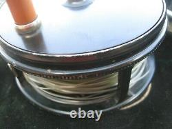 Very Nice! WINSTON 3 1/8 PERFECT Hardy Perfect Fly Rod Reel fishing with bag