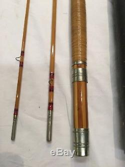 Vintage Conroy Bisset Malleson Bamboo Fly Fishing Rod 3pc