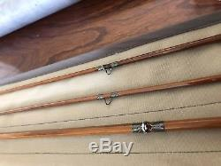 Vintage Heddon Featherweight Bamboo Fly Fishing Rod Blue Waters 76 Restored