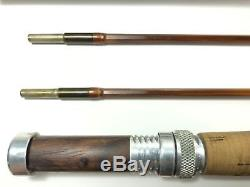 Vintage R. W Summers Mad 275 2pc, 2 Tip Bamboo Fly Fishing Rod 7' 6 #4 Line