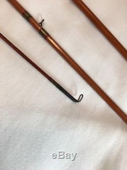 Vintage South Bend 291 7 1/2' 4 Piece Bamboo Fly Rod Fishing Pole & Pouch & Tube