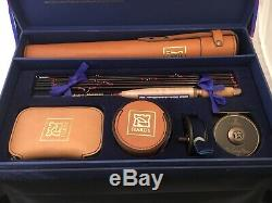 Vintage The House of Hardy Compleat Angler Fly Fishing Rod & Reel Leather Cases